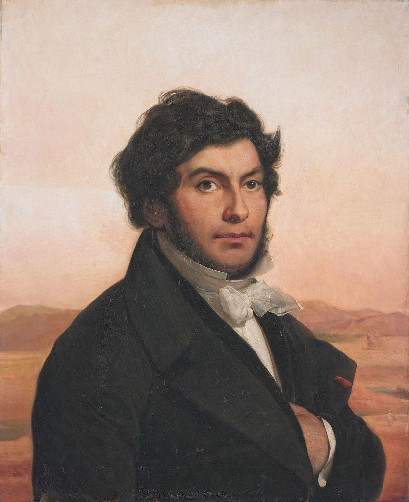 Jean-François Champollion, Porträt von Léon Cogniet